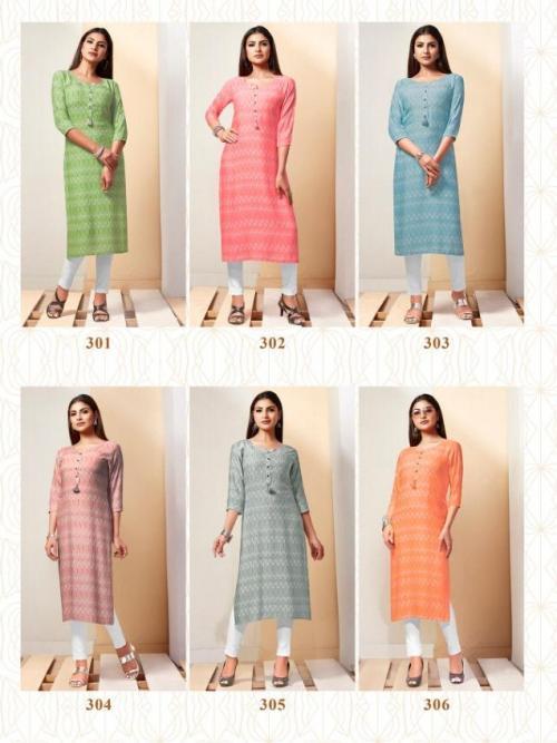 R Studio Baanvi Ikkat 301-306 Price - 3006