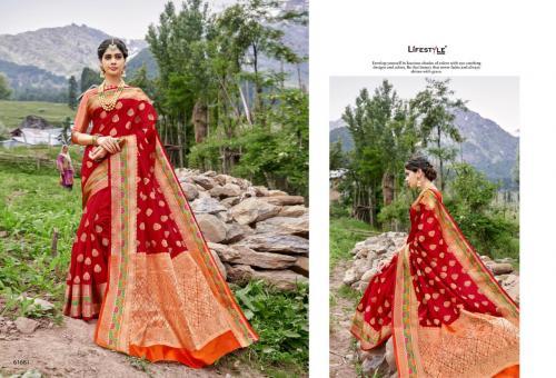 Lifestyle Saree Kashmiri Silk Vol-3 61681-61686 Series