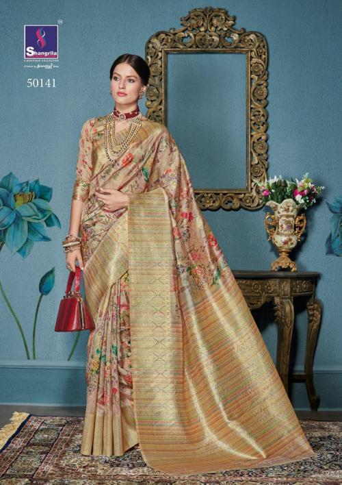 Shangrila Saree Aastha Digital Pallu 50141-50148 Series
