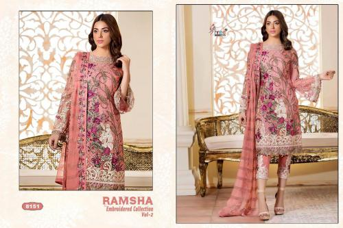 Shree Fabs Ramsha Embroidered Collection Vol-2 8151-8157 Series