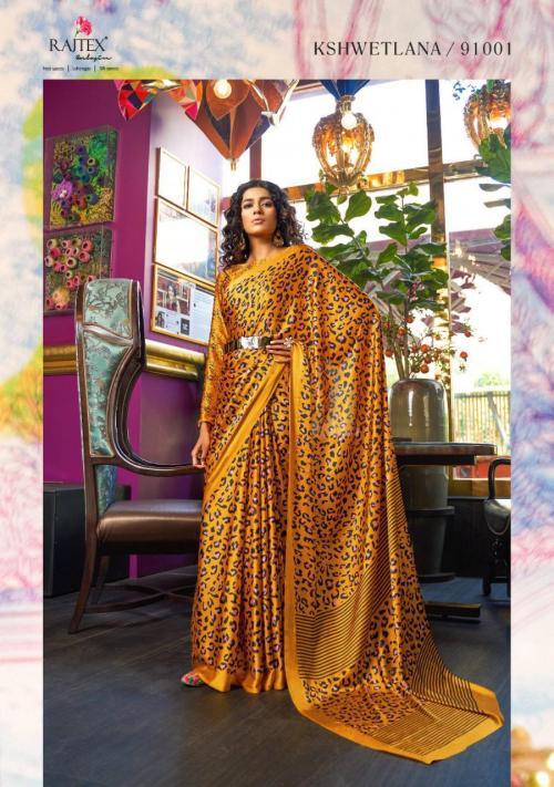 Rajtex Saree Kshwetlana 91001-91018 Series