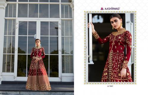 Aashirwad Creation Mor-Bagh Taj 7007-7010 Series