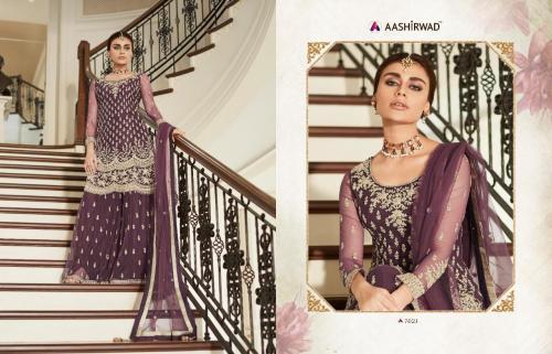 Aashirwad Creation Premium Sharara 7021 Price - 3100