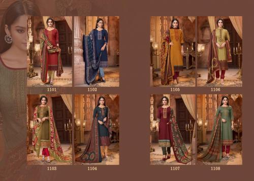 Mrigini Pashmina Collection 1101-1108 Price - 4760