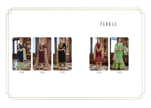 Jinaam Floral Helena 7499-7503 Price - 9450