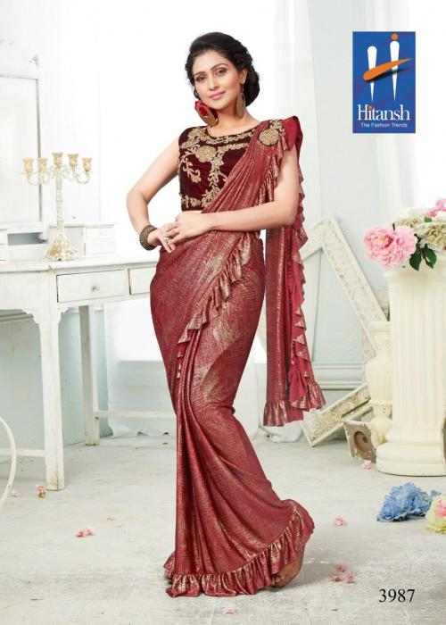 Hitansh Fashion Exclusive Stylish Imported Fabric Saree