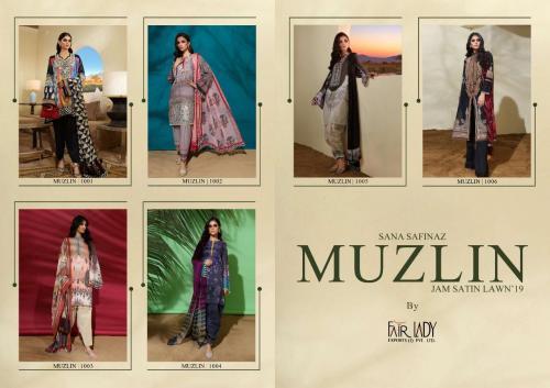 Mumtaz Arts Fair Lady Muzlin SS1001-SS1006 Price - LAWN Dupatta - 4374 , CHIFFON Dupatta - 4194