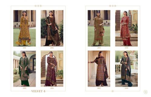 Meera Trendz Charmy Velvet 2901-2908 Price - 11160