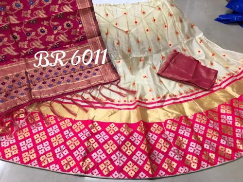 BR Heavy Golden Designer Lehenga BR-6011-K Price - 1149
