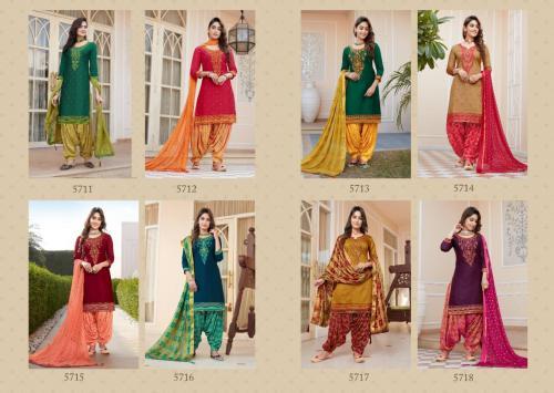 Kessi Fabrics Shangar by Patiala House 5711-5718 Price - 7992
