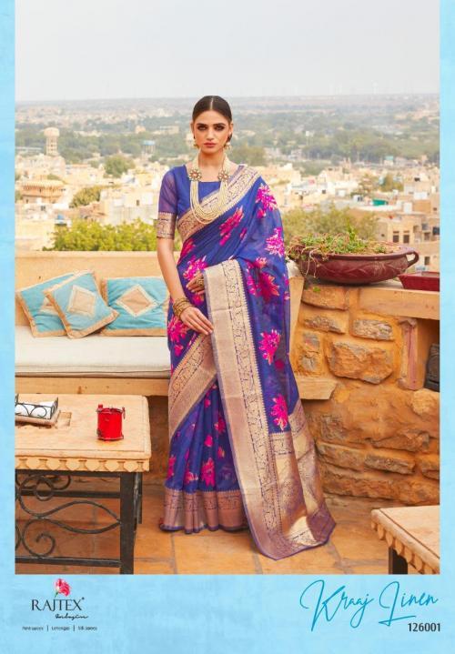Rajtex Saree Kraj Linen 126001-126006 Series