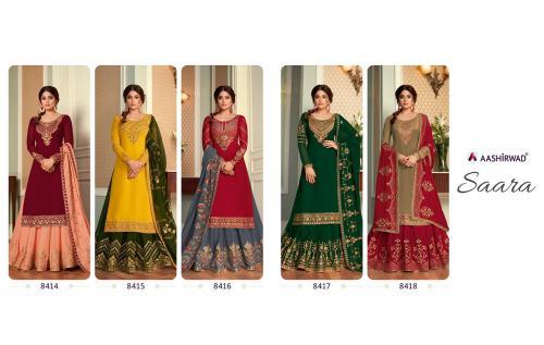 Aashirwad Creation Saara 8414-8418 Price - 14475
