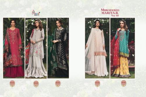 Shree Fabs Mbroidered Mariya B 8141-8145 Price - 6995