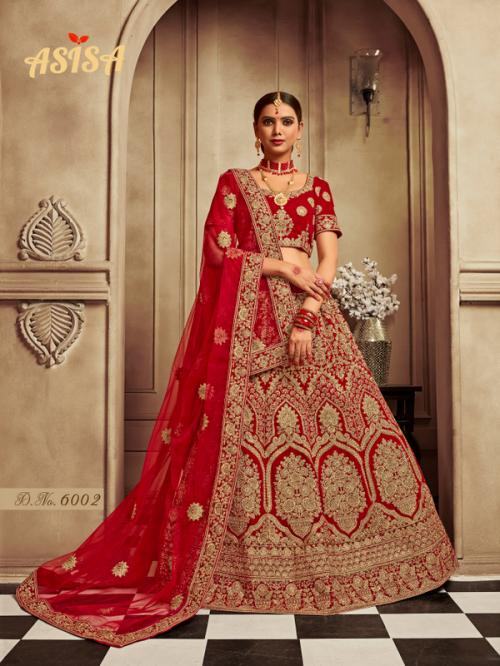 Asisa Bridal Lehenga 6002 Price - 6812