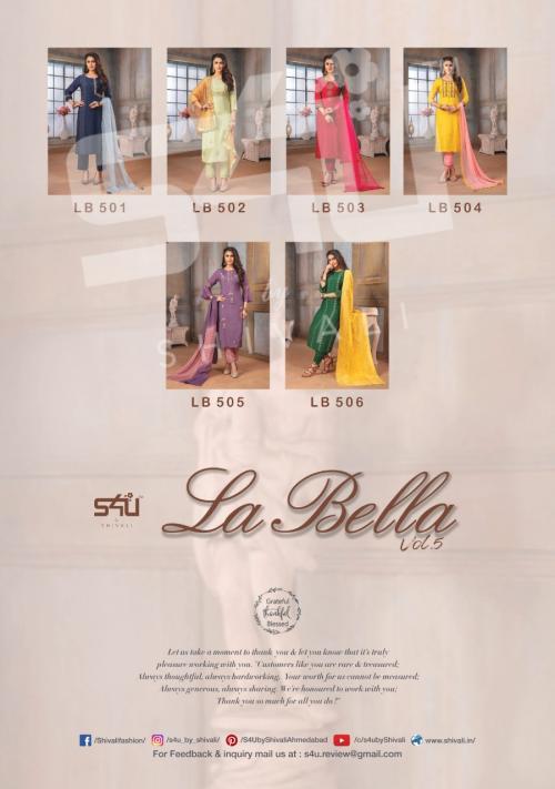 S4U Shivali La Bella 501-506 Price - 10194