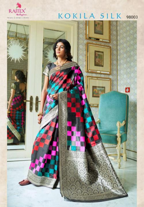 Rajtex Saree Kokila Silk 98003 Price - 1360