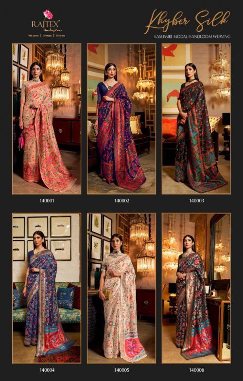 Rajtex Saree Khyber Silk 140001-140006  Price - 13170
