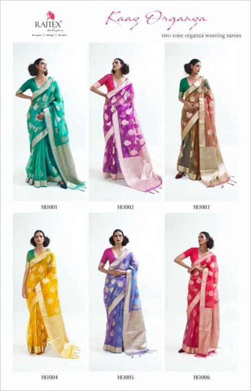 Raj Tex Kaaz Organza 183001-183006 Price - 10350