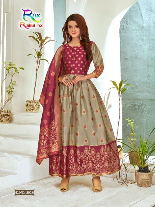 Rahul Nx Minakari Gown 1008 Price - 670
