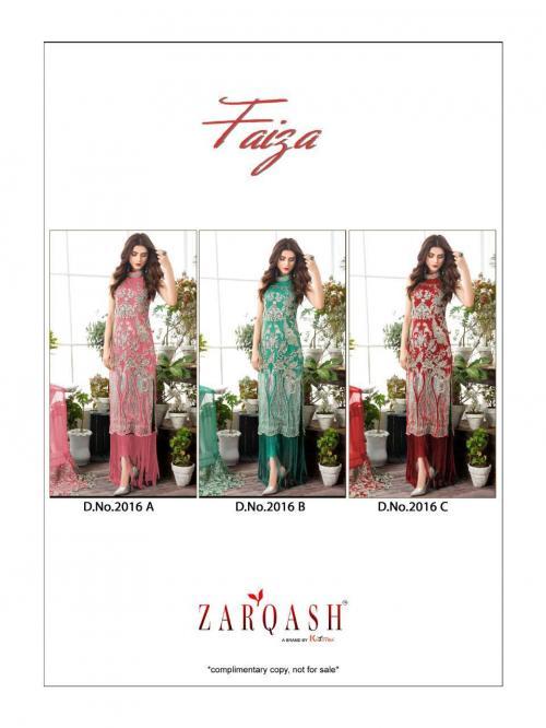 Khayyira Suits Zarqash Faiza 2016 Colors  Price - 3750