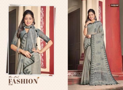 Sangam Saree Vintage Handloom 4001-4006 Series
