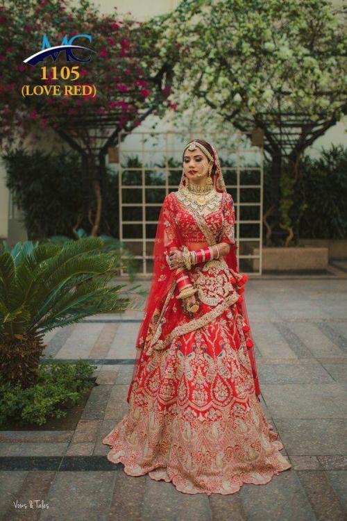 MC 1105 Love Red Color Wedding Lehenga