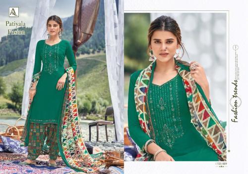 Alok Suits Patiyala Fusion 1725-009 Price - 700