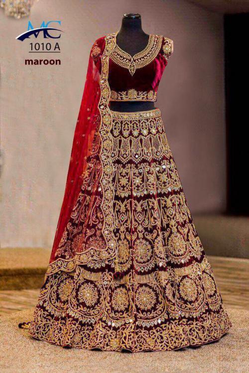 MC Wedding Wear Lehenga Choli 1010 Colors