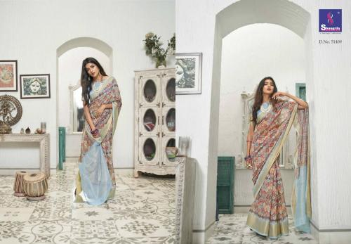 Shangrila Saree Trisha Digtal Linen 51409 Price - 1215