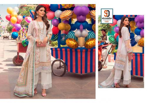 Shraddha Designer Vintage 1006 Price - Chiffon Dup-625 , Cotton Dup-675