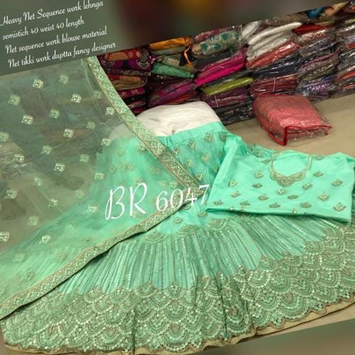 BR Designer Net Sequence Lehenga BR-6047-B Price - 2949