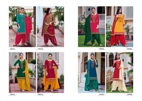 Kessi Fabric Patiala House 5931-5938 Price - 6792
