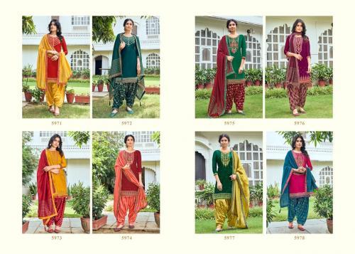 Kessi Fabrics Shangar By Patiala House 5971-5978 Price - 7592