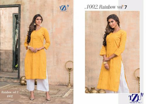 Tzu Rainbow 1002 Price - Only Kurti :-545 ,Kurti With Pant :-845
