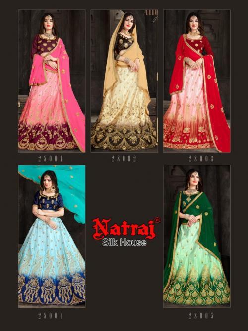Natraj Lehenga Aashana 28001-28005 Price - 6500