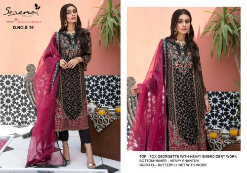 Serene Pakistani Suits S-19 Price - 1299