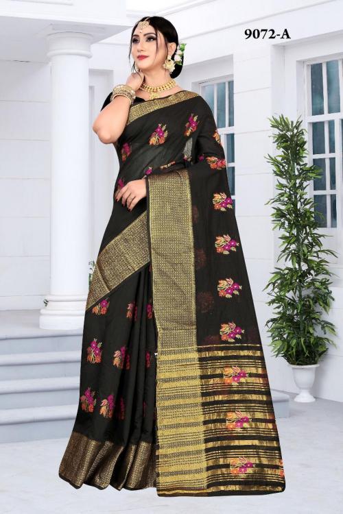 NP Saree 9072 Colors Cotton Silk Sarees