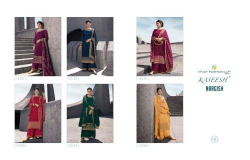 Vinay Fashion Kaseesh Nargish 12121-12126 Price - Inquiry On Watsapp Number For Price