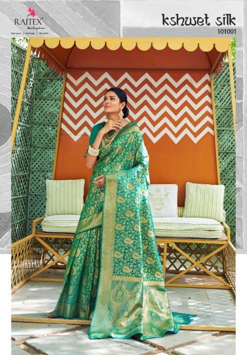 Rajtex Kshwet Silk 101001-101010 Series