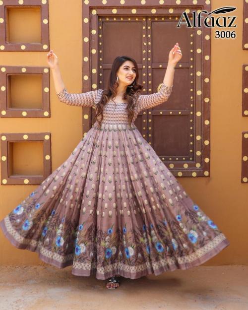 Alfaaz Vol-3 Designer Gown 3006 Price - 1399