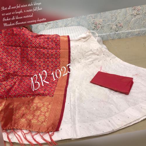 BR Designer Foil Mirror Work Designer Lehenga Choli BR-1023-D Price - 1850