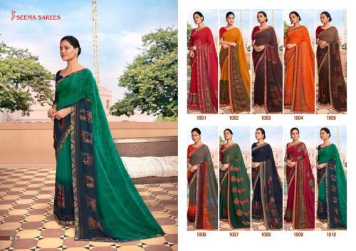 Seema Saree Soch 1001-1010 Price - 4750