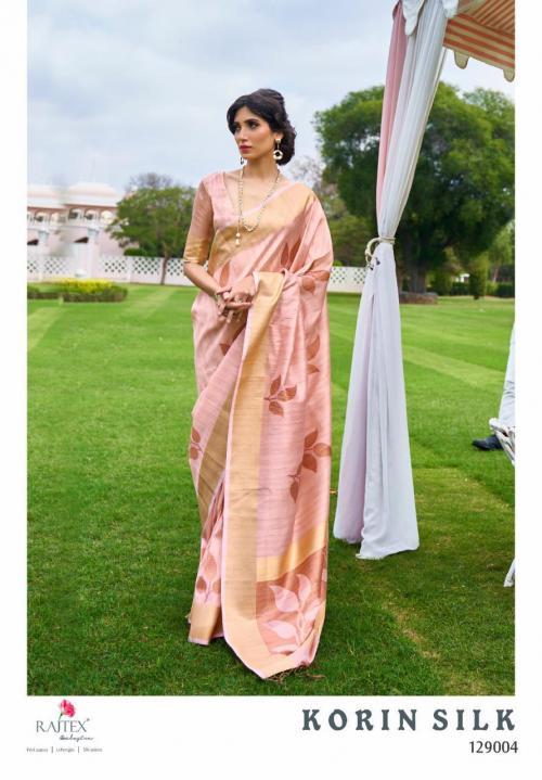 Rajtex Saree Korlin Silk 129004 Price - 1245