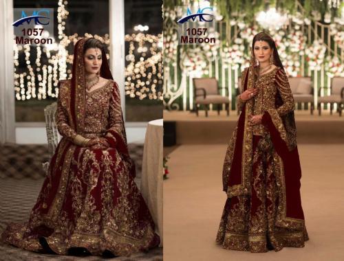 MC 1057 Maroon Designer Wedding Lehenga Choli Price - 3150