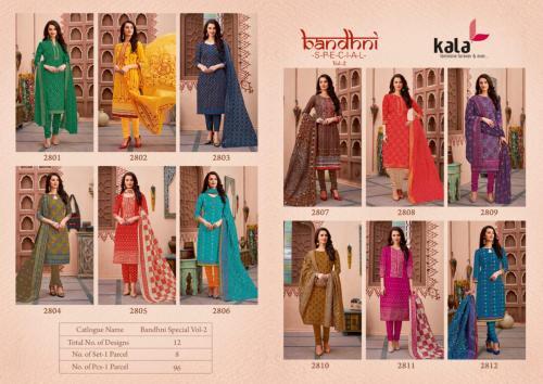 Kala Bandhni Special 2801-2812 Price - 5988
