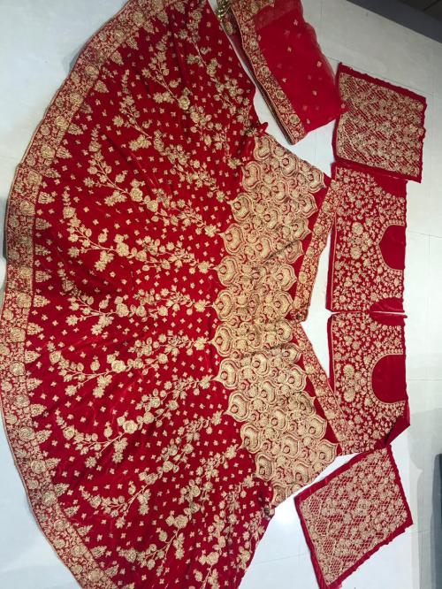 MC 1089 Bridal Designer Love Red Lehenga Price - 3550