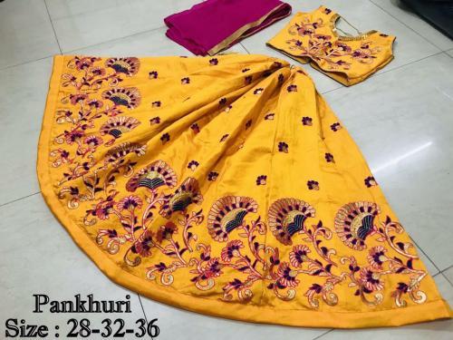 AJ Pankhuri 1001-1003 Zoya Silk Kids Lehenga Choli