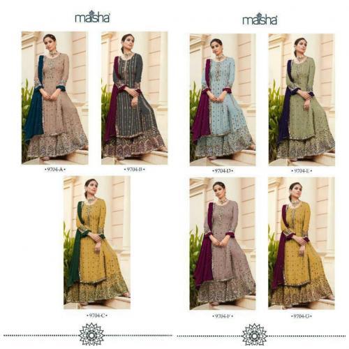 Maisha Maskeen Nazakat 9704 Colors  Price - 19915