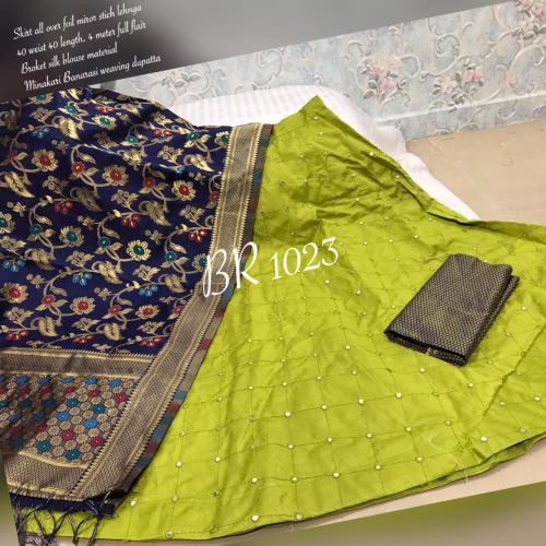 BR Designer Foil Mirror Work Designer Lehenga Choli BR-1023-B Price - 1850