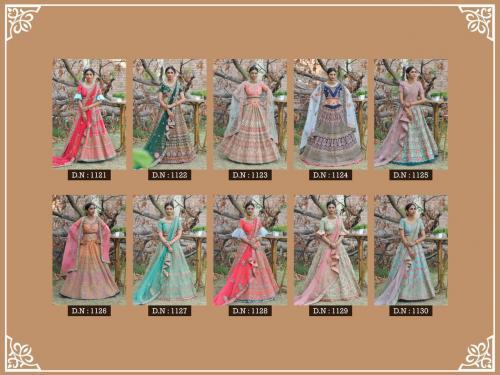 Peafowl Vol-76 Bridal Lehenga 1121-1130 Price - 35330
